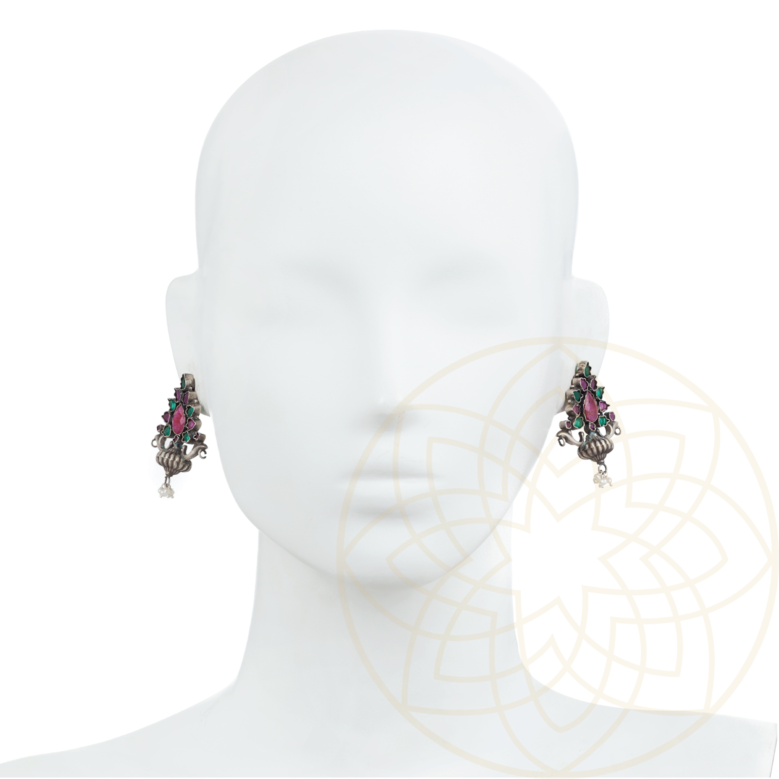 royale desi meenakari work earrings multicolor products desiroyale