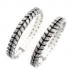 White Gem stone bangles